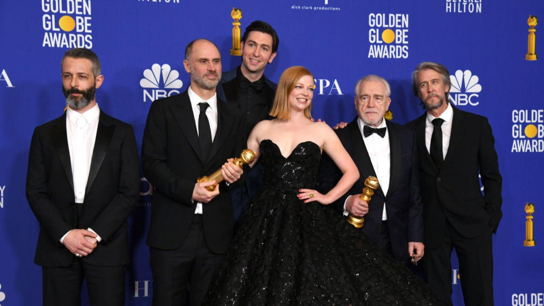 El equipo de 'Sucession' en los Globos de Oro 2020