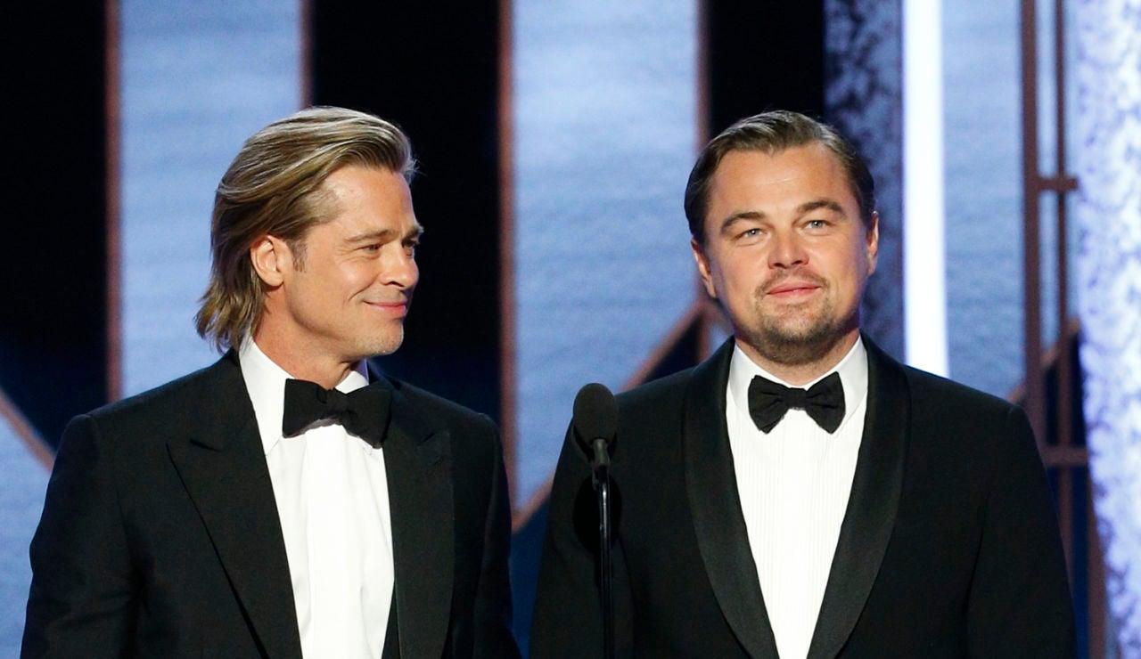 Brad Pitt y Leonardo DiCaprio en los Globos de Oro