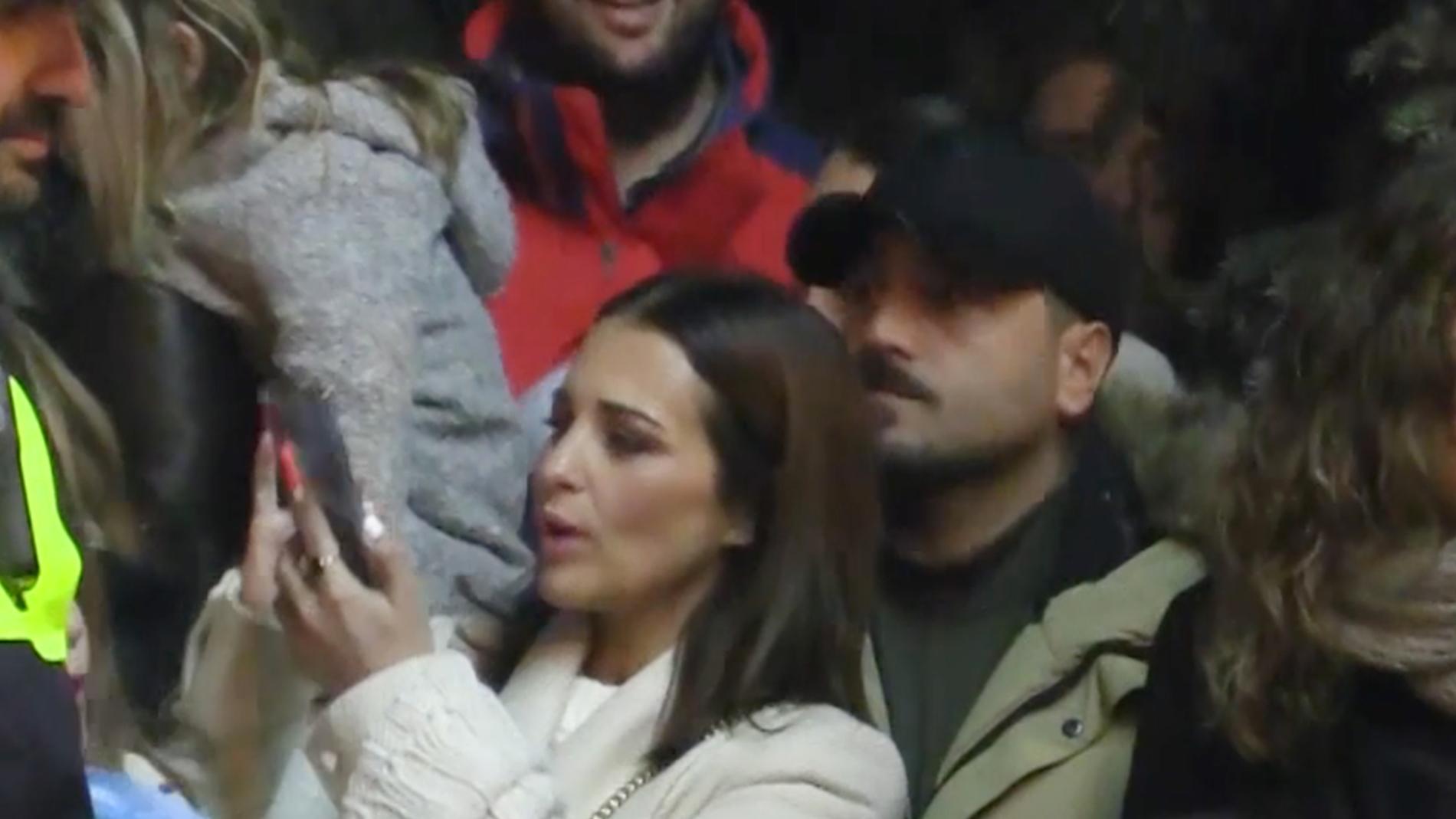 Paula Echevarría y David Bustamante durante la cabalgata de Reyes