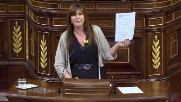 """Laura Borrás: """"No podemos votar en contra de Cataluña y a favor de la represión"""""""