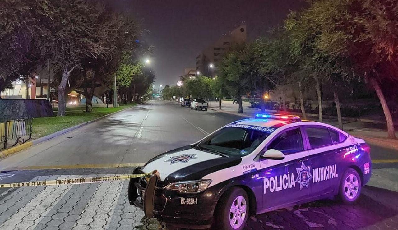 Policías estatales montan guardia en Tijuana, México