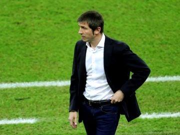 Albert Celades, en el partido ante el Real Madrid