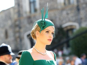 Lady Kitty Spencer durante la boda de Meghan y Harry