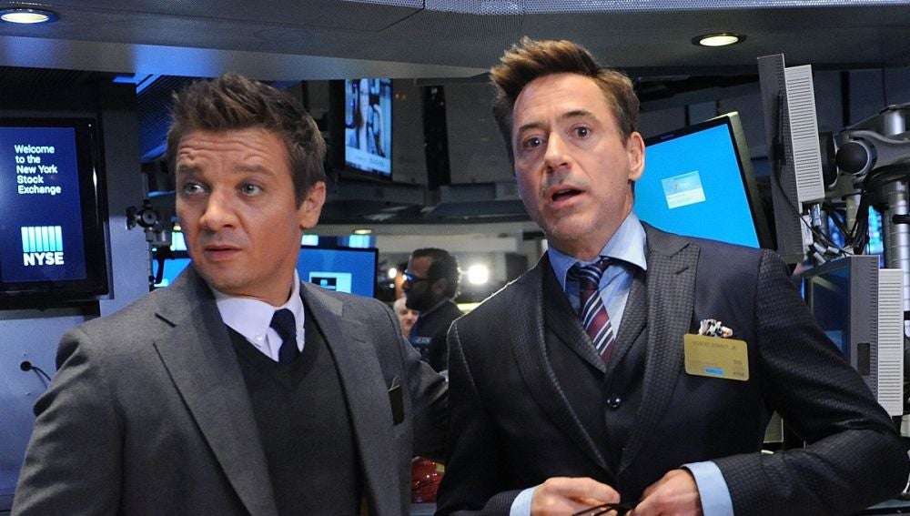Jeremy Renner y Robert Downey Jr.