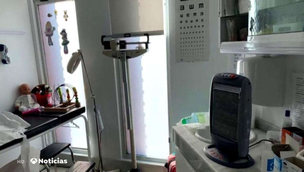 Estufas en un centro de salud de Valencia