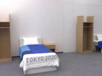 La Villa Olímpica de los Juegos Olímpicos de Tokio tiene camas de cartón