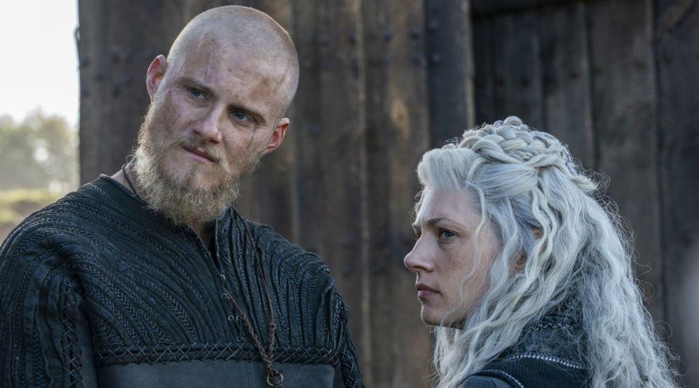 Bjorn y Lagherta en 'Vikingos'