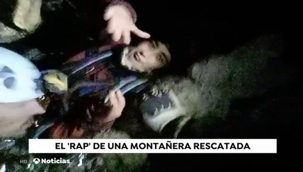 El 'rap' de una montañera rescatada