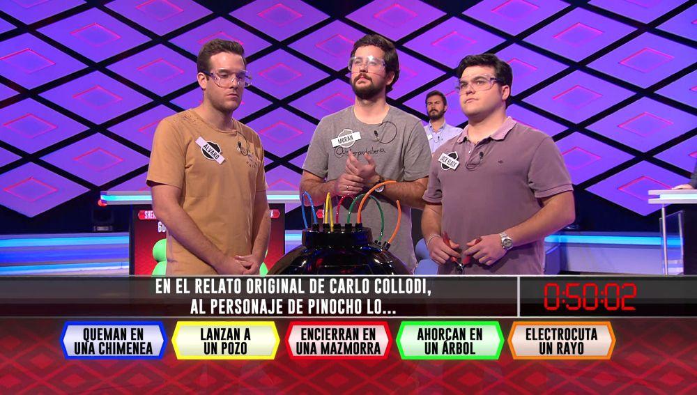 Pinocho pone por delante a los 'Sherpas de Iberia' sobre 'Los dispersos' en '¡Boom!'