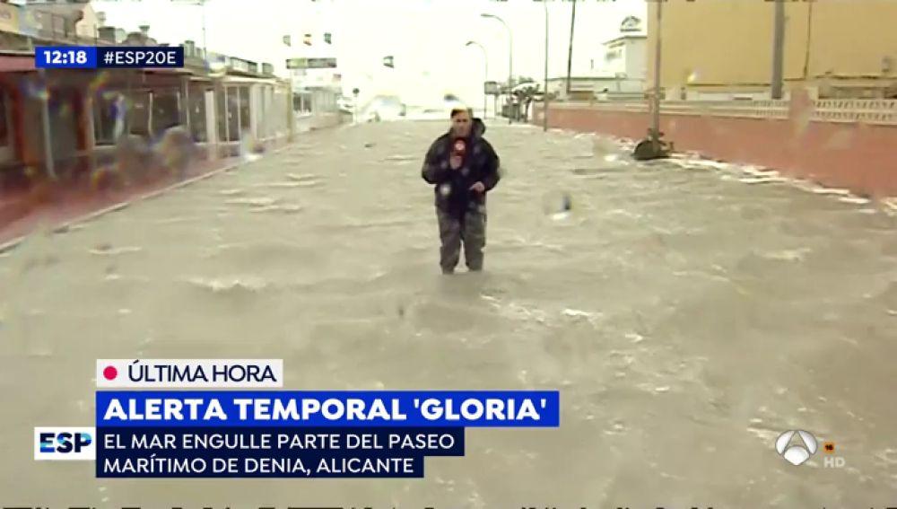 La increíble imagen del mar que deja la borrasca 'Gloria' en Denia