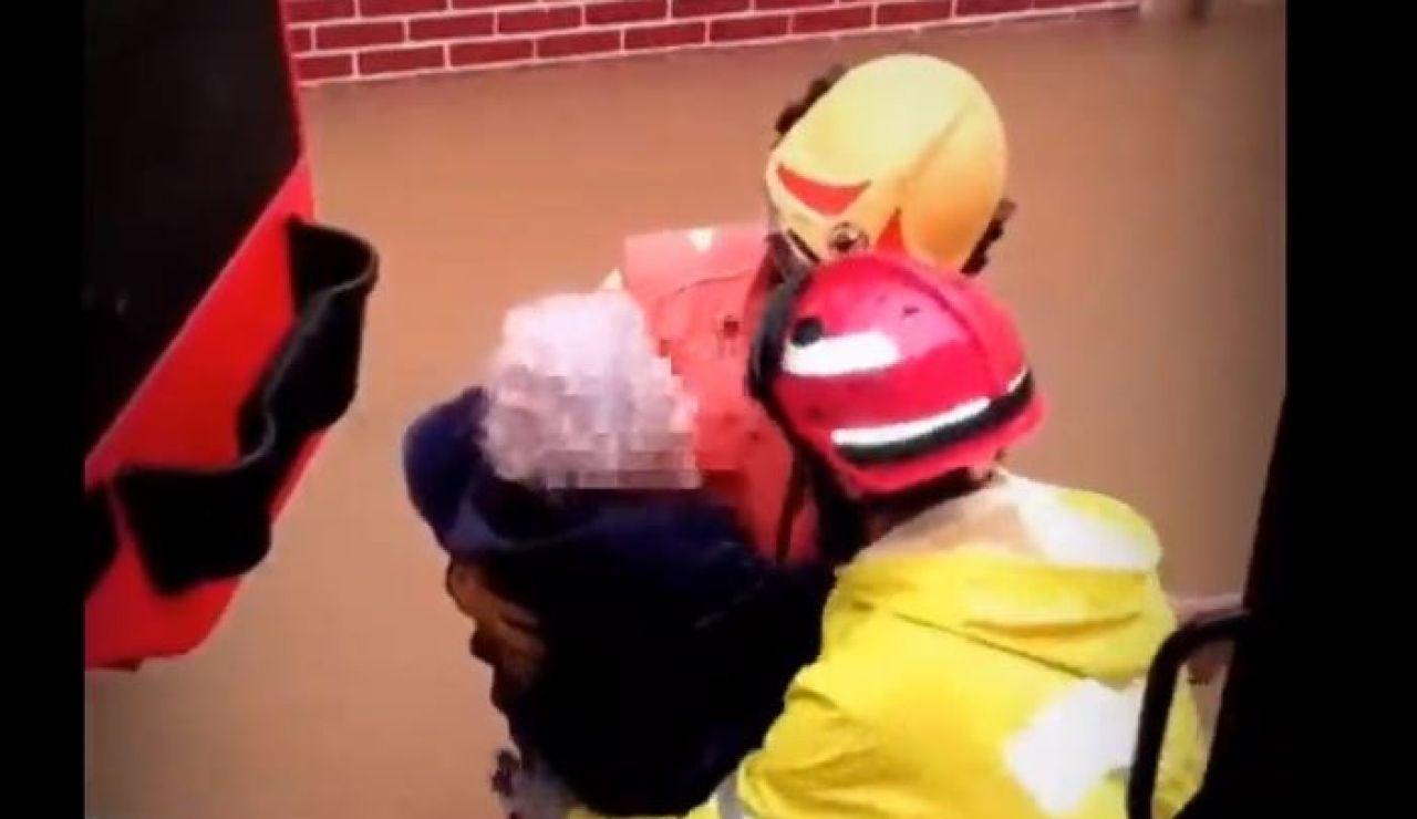 Rescate en Valencia por la borrasca 'Gloria'