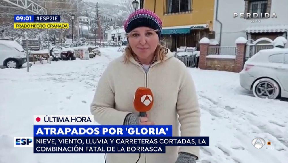 Un equipo de Espejo Público, atrapado por la nieve en Granada pasa la noche en casa de un vecino