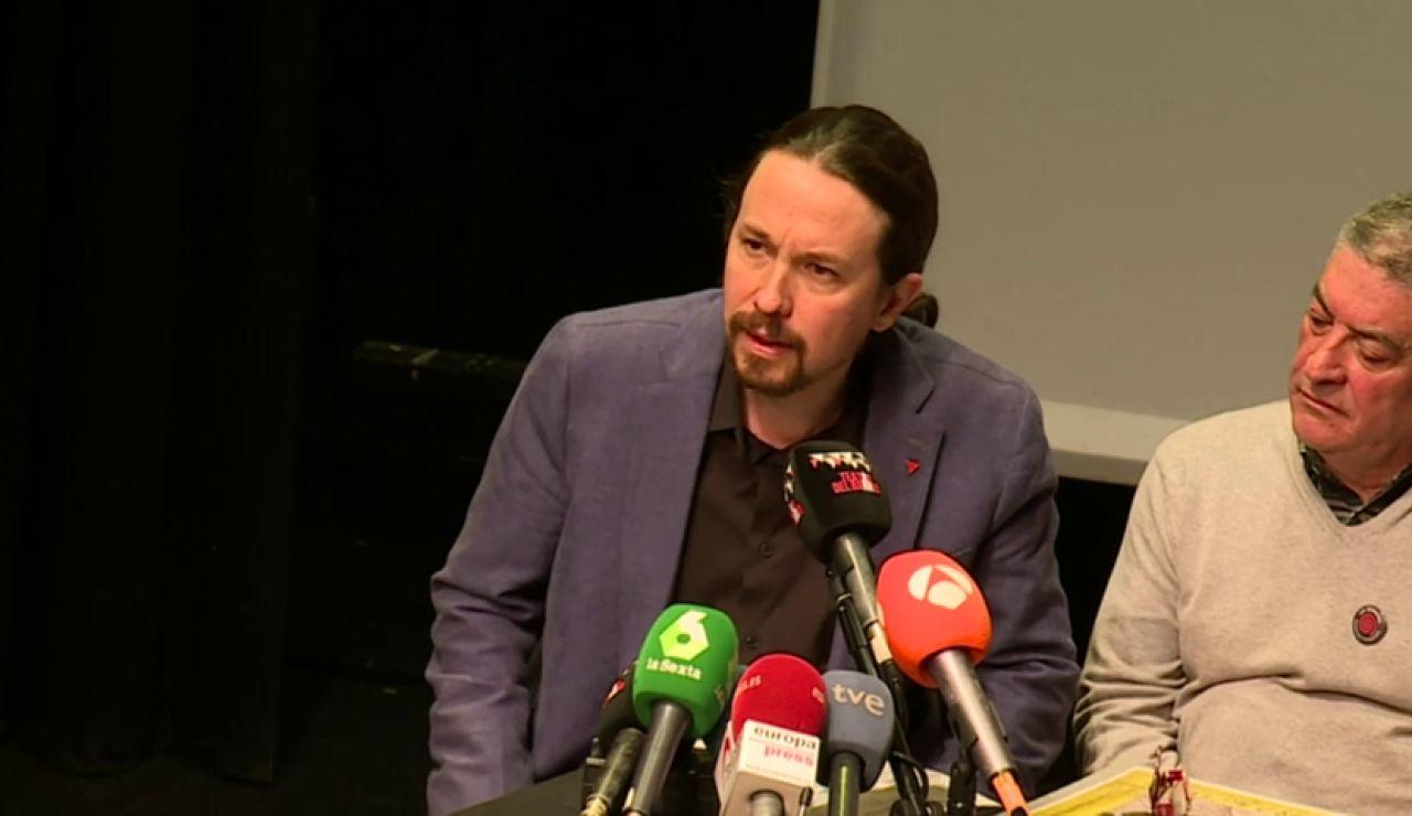 """Pablo Iglesias critica que """"quienes arrancaron a miles de niños de sus padres para enseñarles el 'Cara al Sol'"""" apoyen el pin parental"""