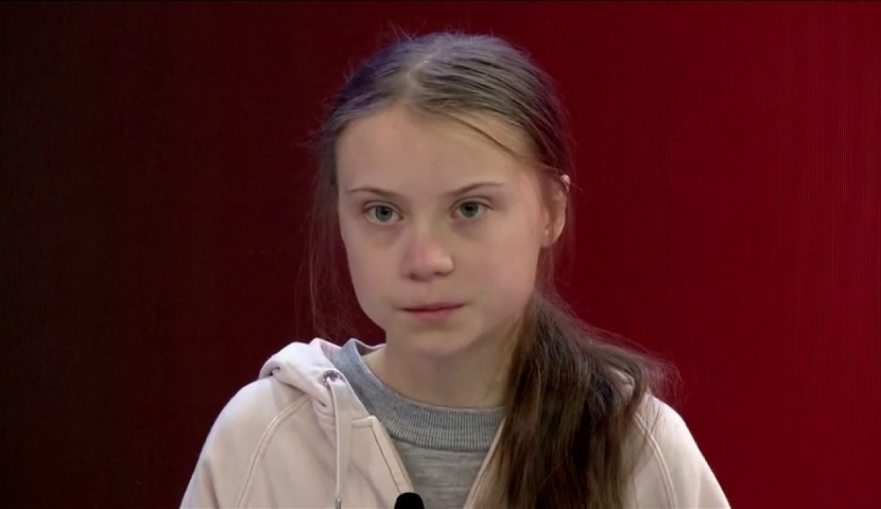 Greta Thunberg y Donald Trump inician su duelo en Davos