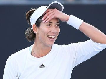 Garbiñe Muguruza, en su estreno en el Open de Australia 2020