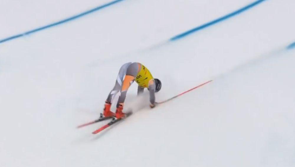 El accidente de la Copa del Mundo de esquí