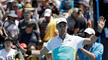 Roberto Bautista celebra su victoria en el Open de Australia