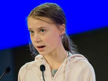 Greta Thunberg en el Foro de Davos