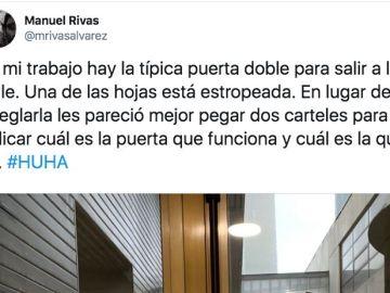 Pantallazo del twitter de Manuel Rivas