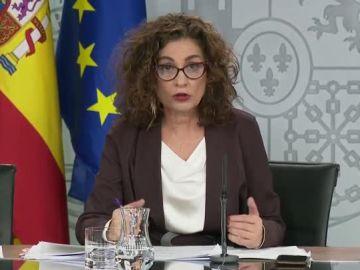 María Jesús Montero, en la rueda de prensa del Consejo de Ministros.