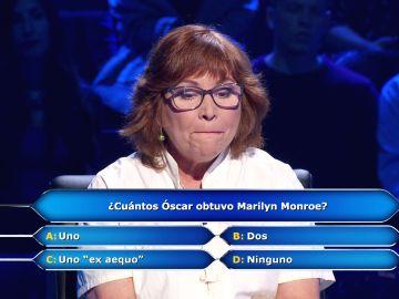 Marilyn Monroe pone en el primer aprieto a Ruth de Andrés en '¿Quién quiere ser millonario?'