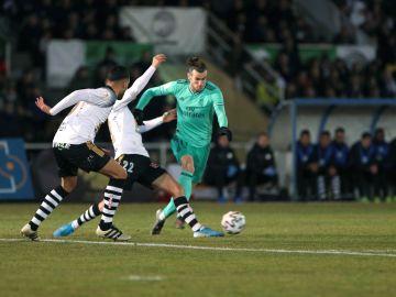 Gareth Bale en el partido contra Unionistas