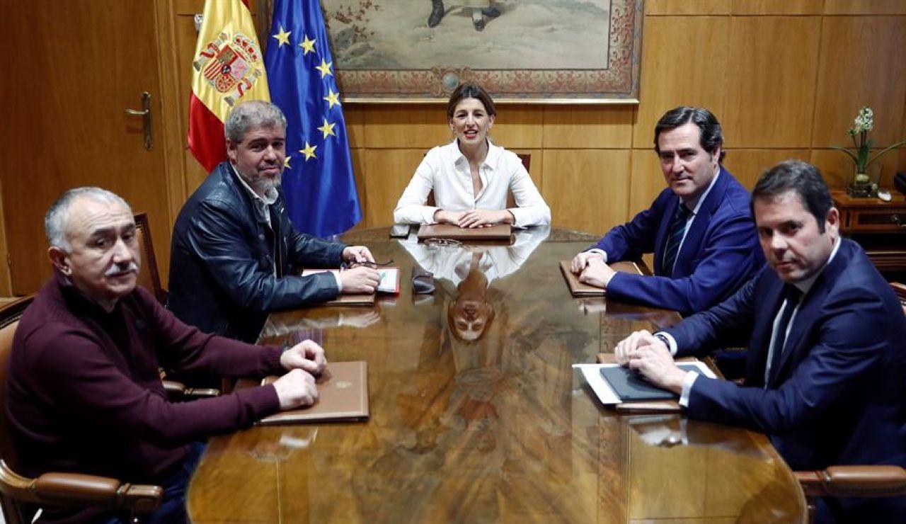 Reunión entre Gobierno y agentes sociales
