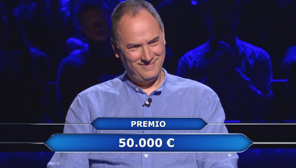 Erundino decide plantarse en la pregunta de los 100.000 euros: ¿Los hubiera ganado de haber arriesgado?