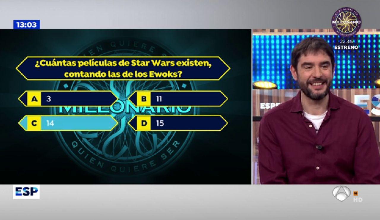 Juanra Bonet a sólo una pregunta de llevarse el premio de '¿Quién quiere ser millonario?'