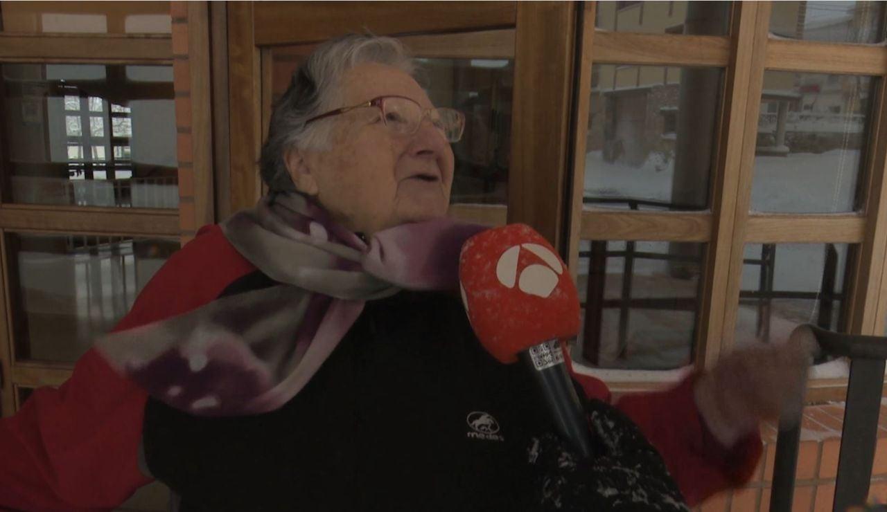 Angelines, la mujer viral de Teruel