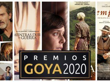 Nominados a mejor película en los Premios Goya 2020