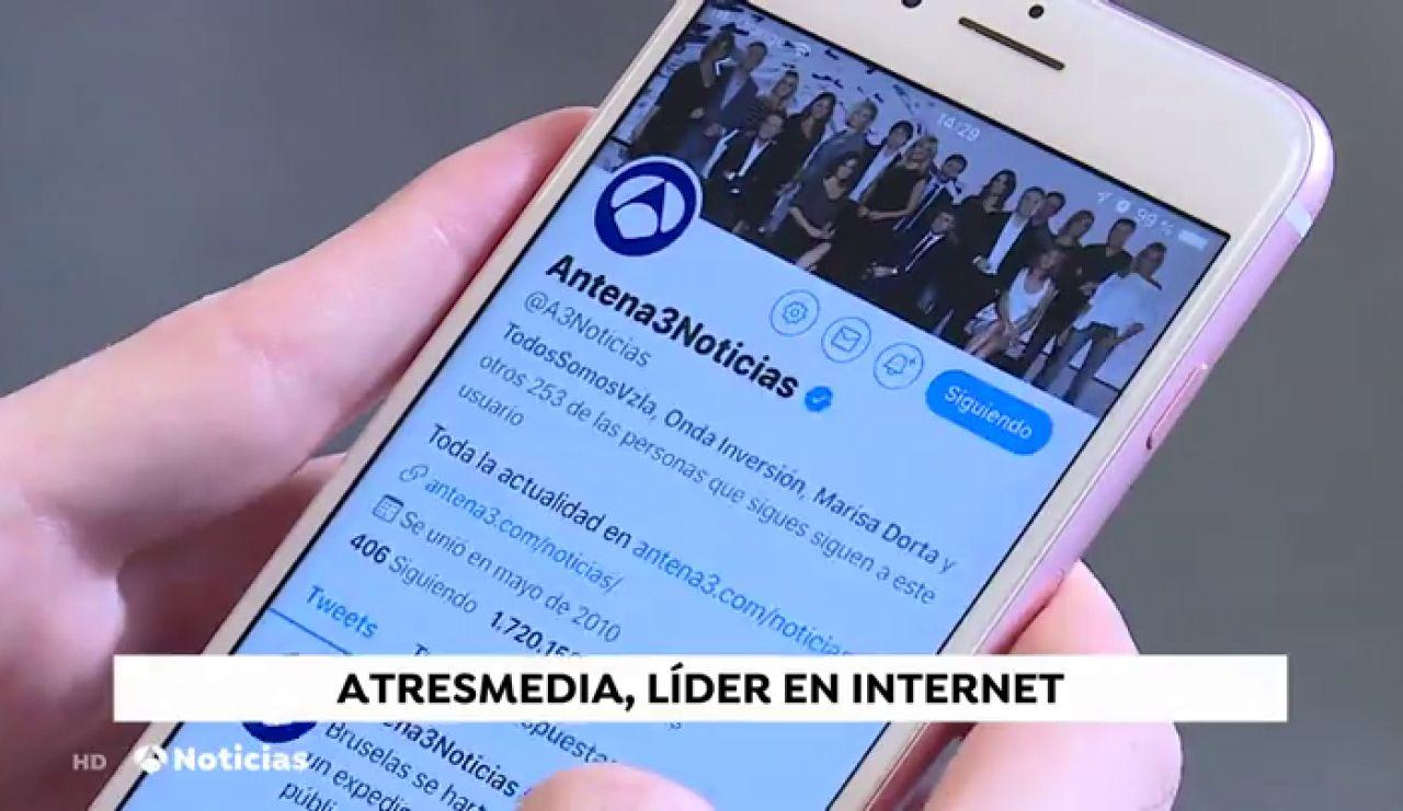 Atresmedia cierra 2019 como grupo audiovisual líder en Internet con más de 26 millones de visitantes únicos