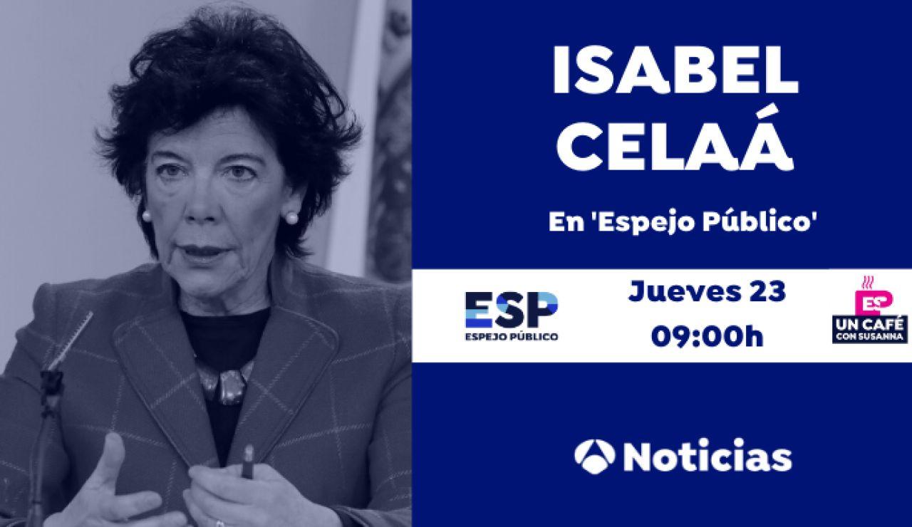 Isabel Celaá, en Espejo Público