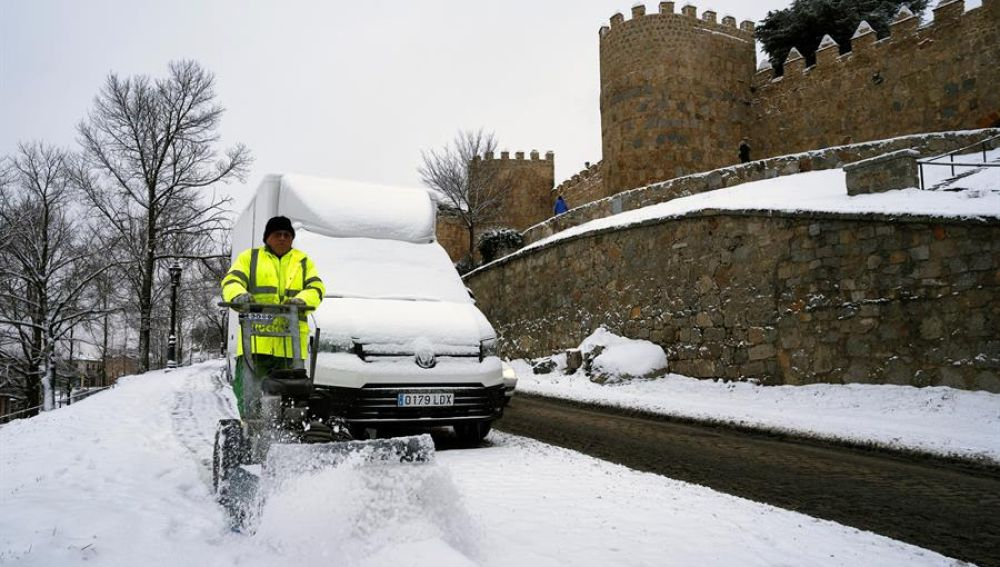 Nieve en Ávila