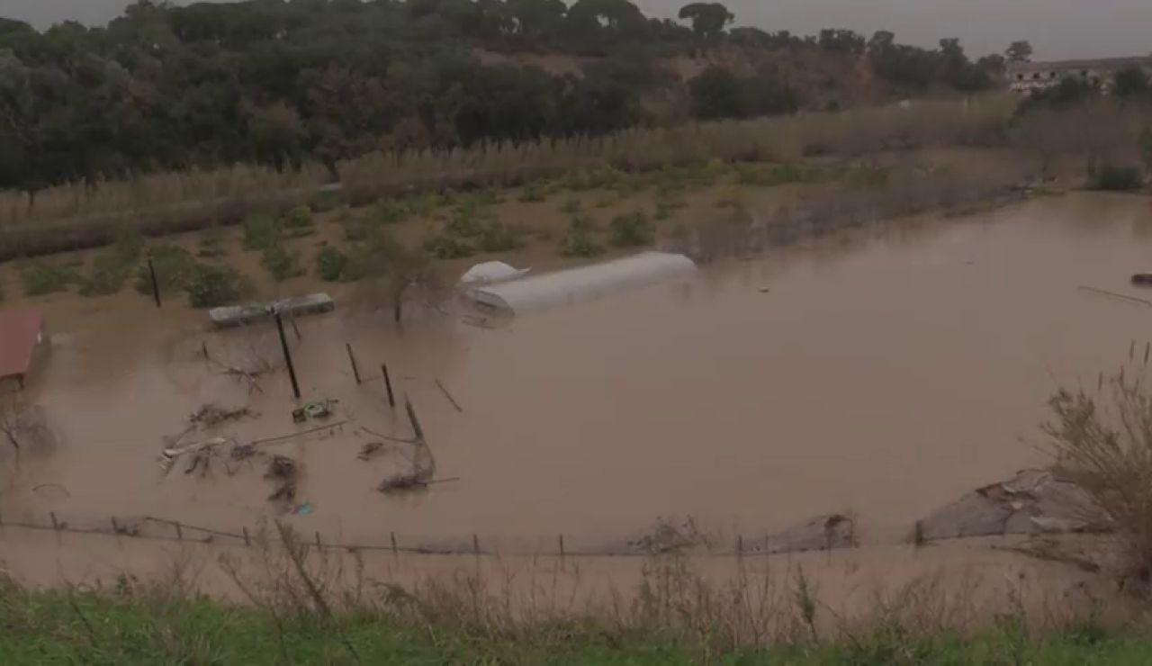 La borrasca 'Gloria' deja fuertes inundaciones y desbordamientos de diversos ríos en Cataluña