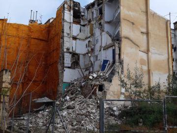 Una mujer muere en el derrumbe de un edificio de Alcoy, en Alicante