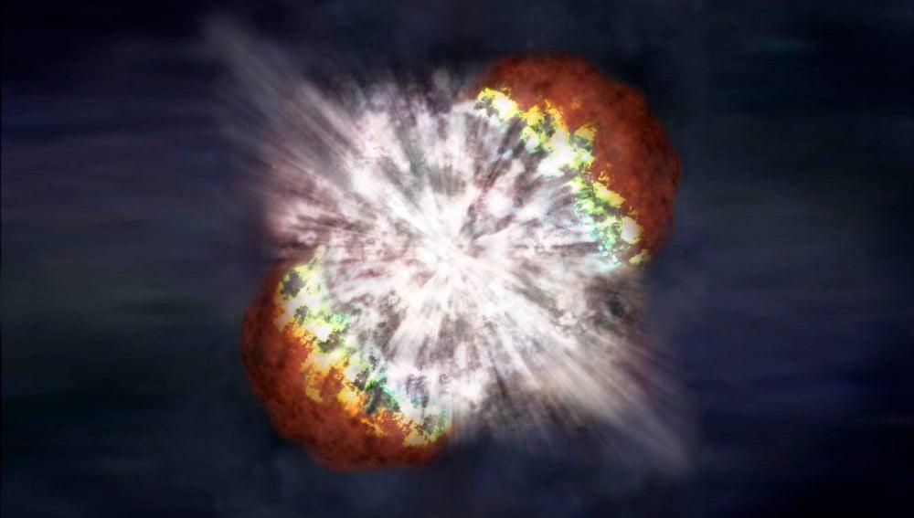 Aclarado el explosivo origen de una supernova superluminosa