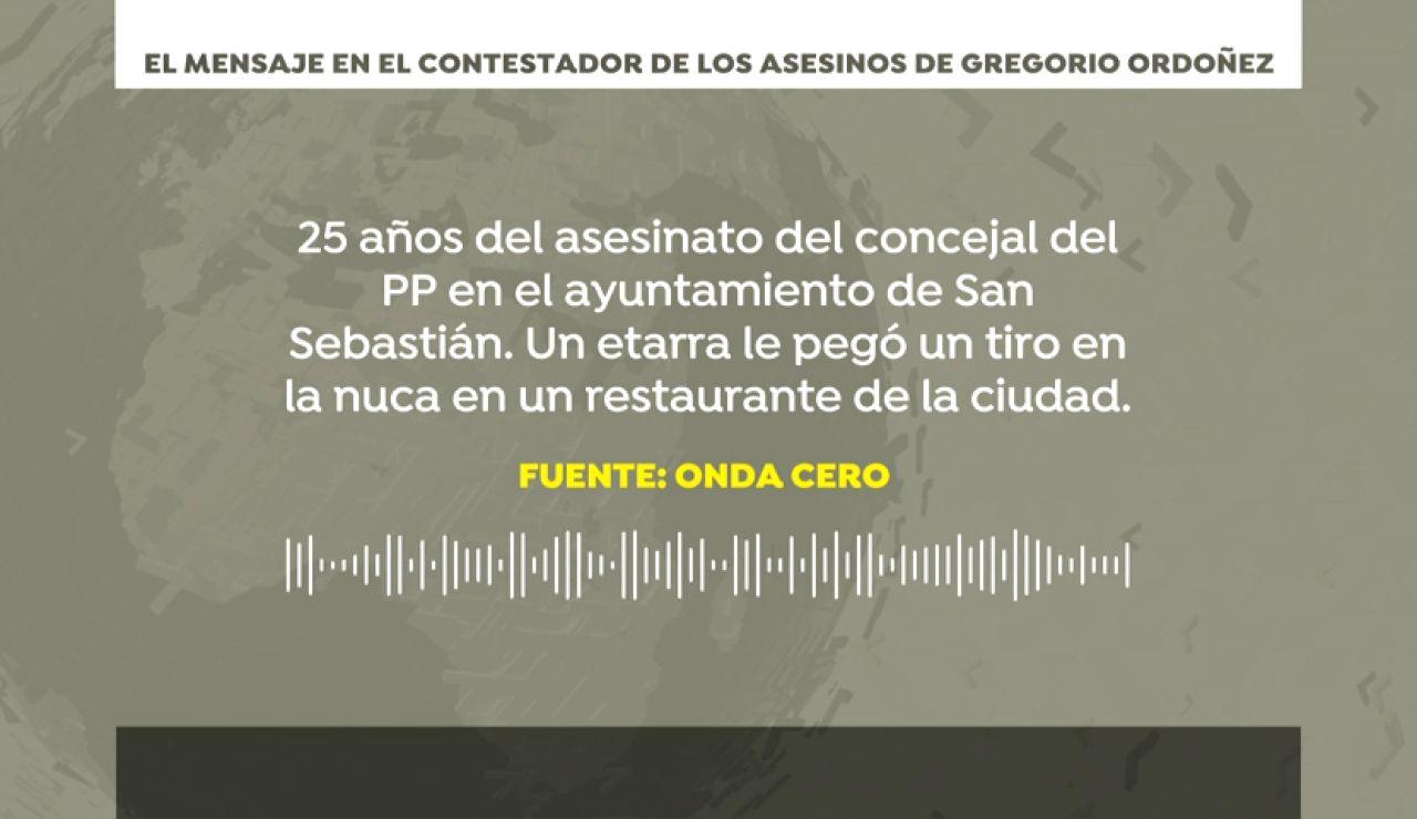 "Así amenazaba ETA a Gregorio Ordóñez: ""Vete de Euskadi, tu familia puede morir"""
