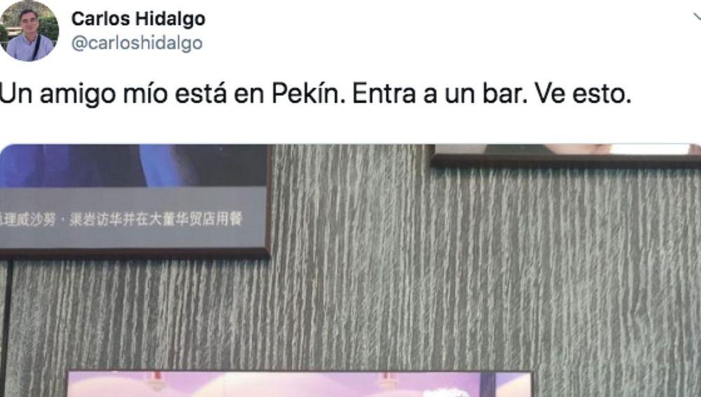 Pantallazo del twitter de Carlos Hidalgo
