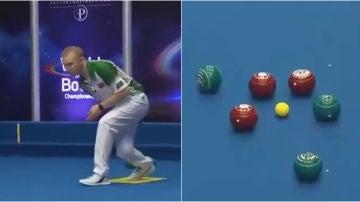 Nick Brett y su espectacular lanzamiento en el Mundial de petanca