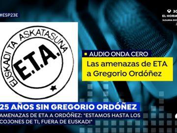 """Así es el audio en el que ETA amenazó a Gregorio Ordóñez antes de asesinarlo: """"Estamos hasta los cojones de ti"""""""