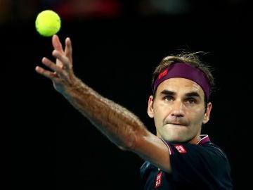 Roger Federer durante el Open de Australia 2020