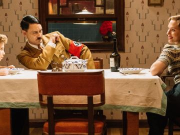 Taika Waititi, Scarlett Johansson y Roman Griffin Davis e 'Jojo Rabbit'
