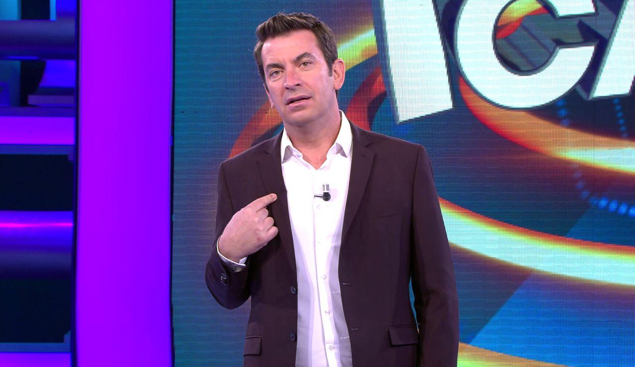 Arturo Valls admite en '¡Ahora caigo!' sus celos por Juanra Bonet