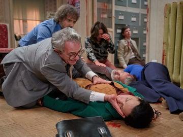 Manolita, herida en el tiroteo