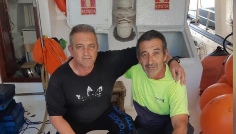 Javier y Ángel, dos de los marineros desaparecidos