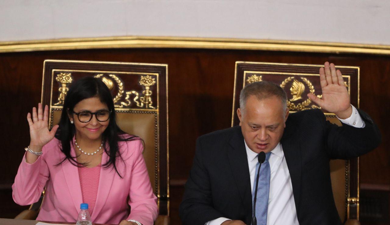 Delcy Rodríguez y Diosdado Cabello