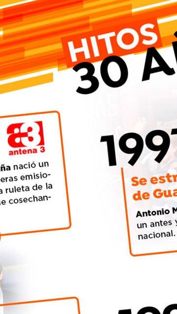Especial: Antena 3 celebra su 30 aniversario
