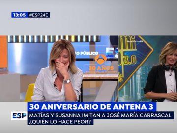 """Susanna Griso, sobre su comentada imitiación de Carrascal: """"Era una mezcla entre Doña Rogelia y 'la niña del exorcista'"""""""