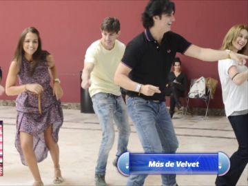 '¡Ahora caigo!' rescata las imágenes de Poty enseñando a bailar a Miguel Ángel Silvestre y Paula Echeverría para 'Velvet'